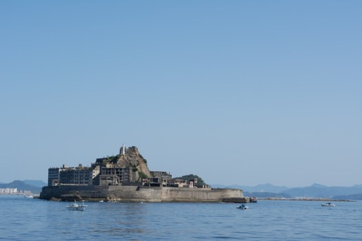 軍艦島の写真編集前