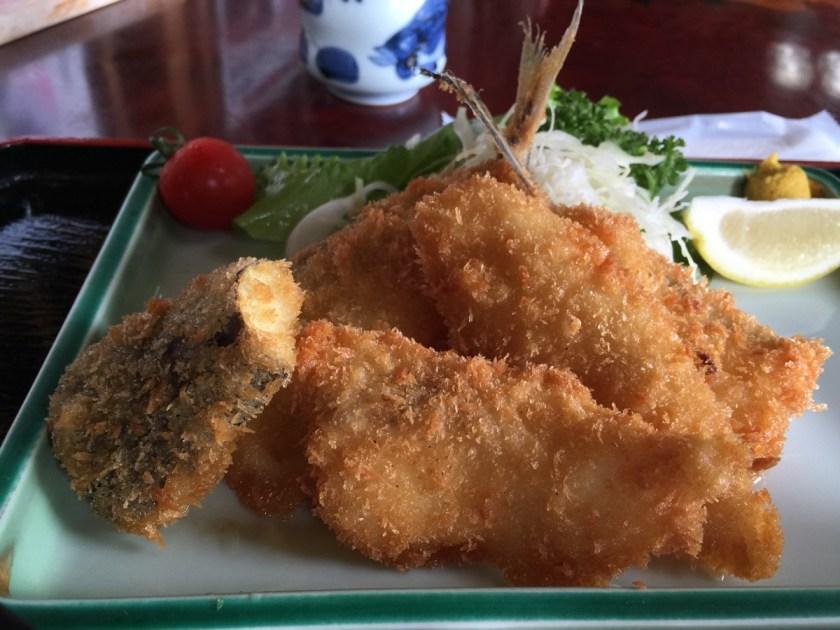 あみもと地魚フライ定食