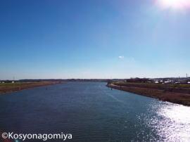 印西市内を流れる利根川