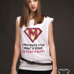 Koszulka z nadrukiem - tunika - od koszulove.com I produce milk what's your superpower