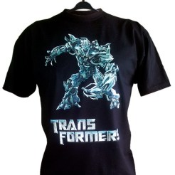 realizacja nadruku na koszulkę w technice DTG - na zamówienie indywidualne dla pewnego młodego fana Transformersów