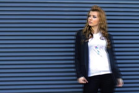 koszulka melanżowa z nadrukiem