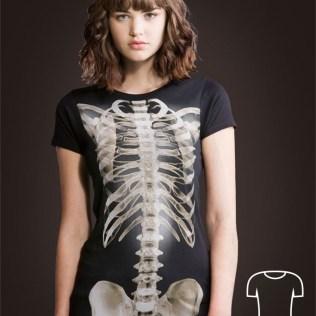 koszulka na halloween kości