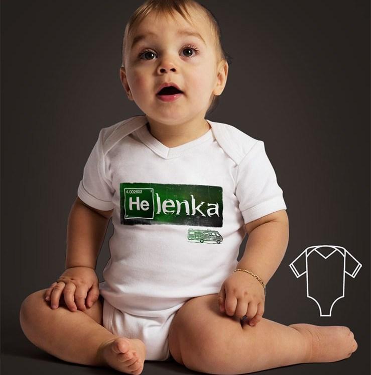 Nasze dzisiejsze dziecko - nadruk z imieniem dziecka na body wykonany w stylistyce Breaking Bad http://koszulove.com/dla-dzieci/324-body-z-nadrukiem-imienia-dziecka-breaking-bad.html