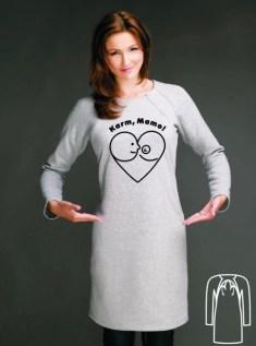 sukienka duze logo