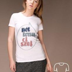 Koszulka dla młodej mamy Pół tonu ciszej