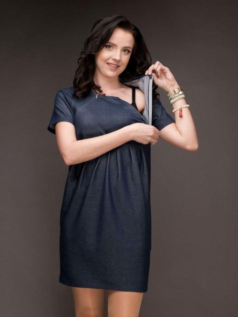Sukienka 2w1 ciążowa i do karmienia MUSTHAVE 4