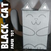 Квадратный кот из бумаги