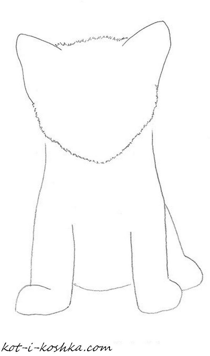 как нарисовать котенка поэтапно (4)