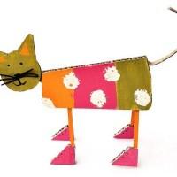 Кот из картона