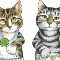 Бумажные коты с одеждой