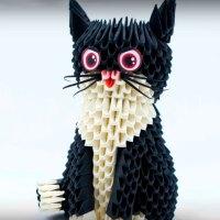 Модульное оригами Кот