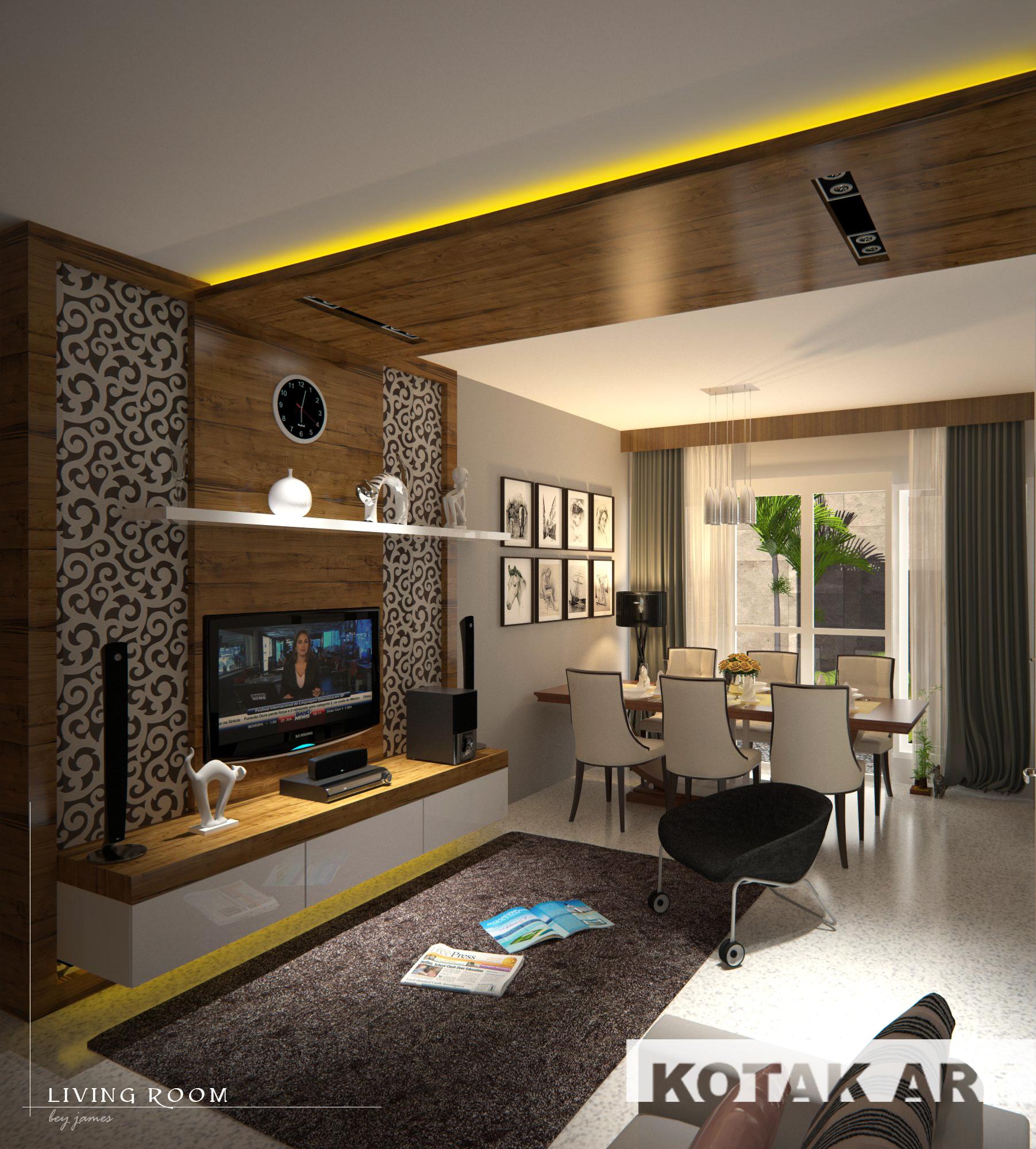 Ruang tamu Ruang keluarga dan Ruang makan  KOTAK INTERIOR AND FURNITURE