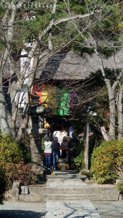 お寺の外から撮影しました。