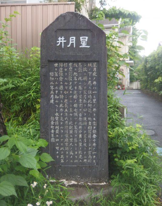 星月夜の石碑