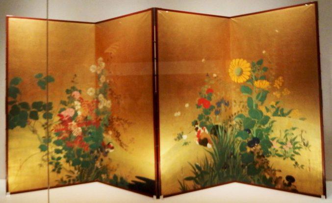 鈴木其一 「四季花鳥図」山種美術館所蔵