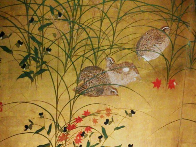 酒井抱一「秋草鶉図」山種美術館所蔵