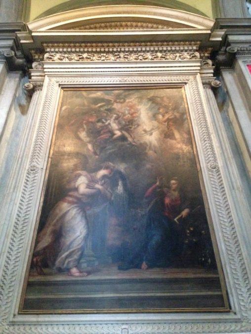 ヴェネツィア・ルネッサンスの巨匠たち展 ティツアーノ、サン・サルヴァドール聖堂の「受胎告知」