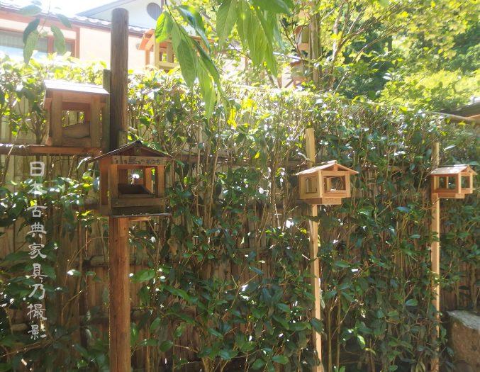 明月院 鳥の餌場