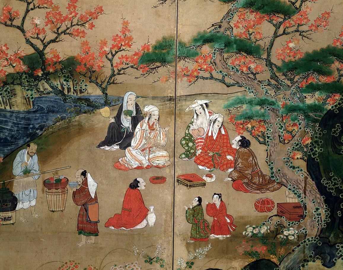 観楓図屏風 部分 国立東京博物館所蔵