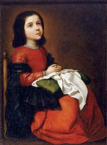 フランシスコ・デ・スルバラン「聖母マリアの少女時代」