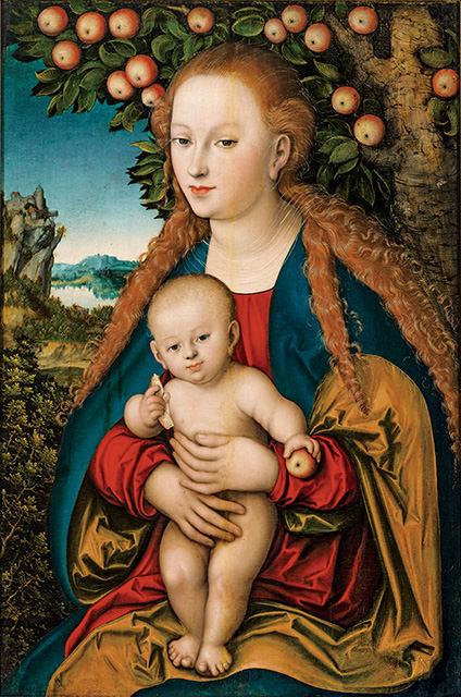 ルカス・クラーナハ「林檎の木の下の聖母子」