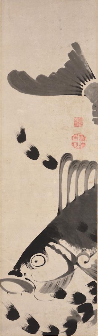 府中市美術館 へそまがり日本美術展 伊藤若冲「鯉図」