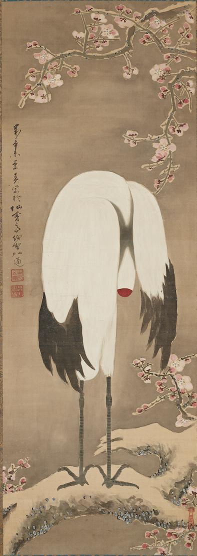 へそまがり日本美術展稲葉弘通「鶴図」