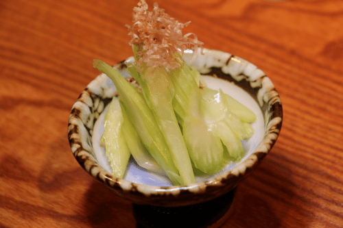 House-made pickled celery