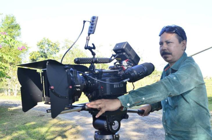 Manabendra Adhikary during 'Antareen' shoot
