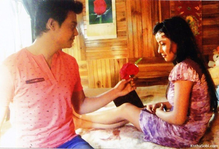 Dhruba and Spaini in 'Love in Tawang'