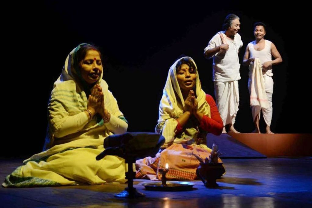 A scene from the play 'Lakhimi'