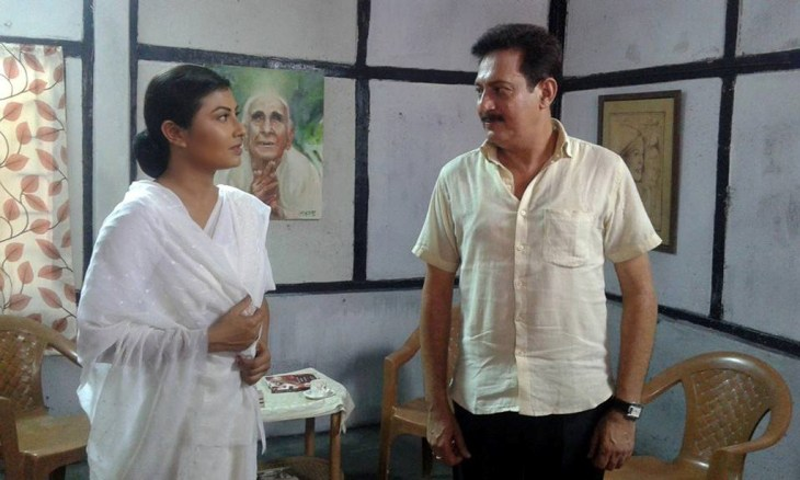 Prastuti Parashar with Rajeev Goswami in a scene from 'Mriganabhi'