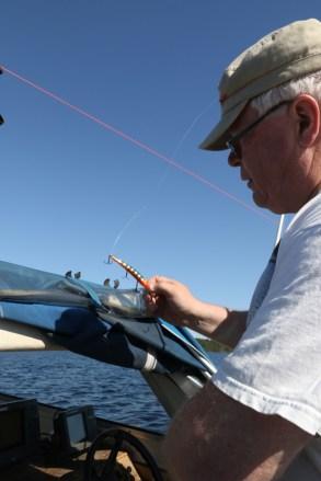 Kala ei juurikaan purrut vieheitä tällä kertaa, tuumaa Juha Kosonen.