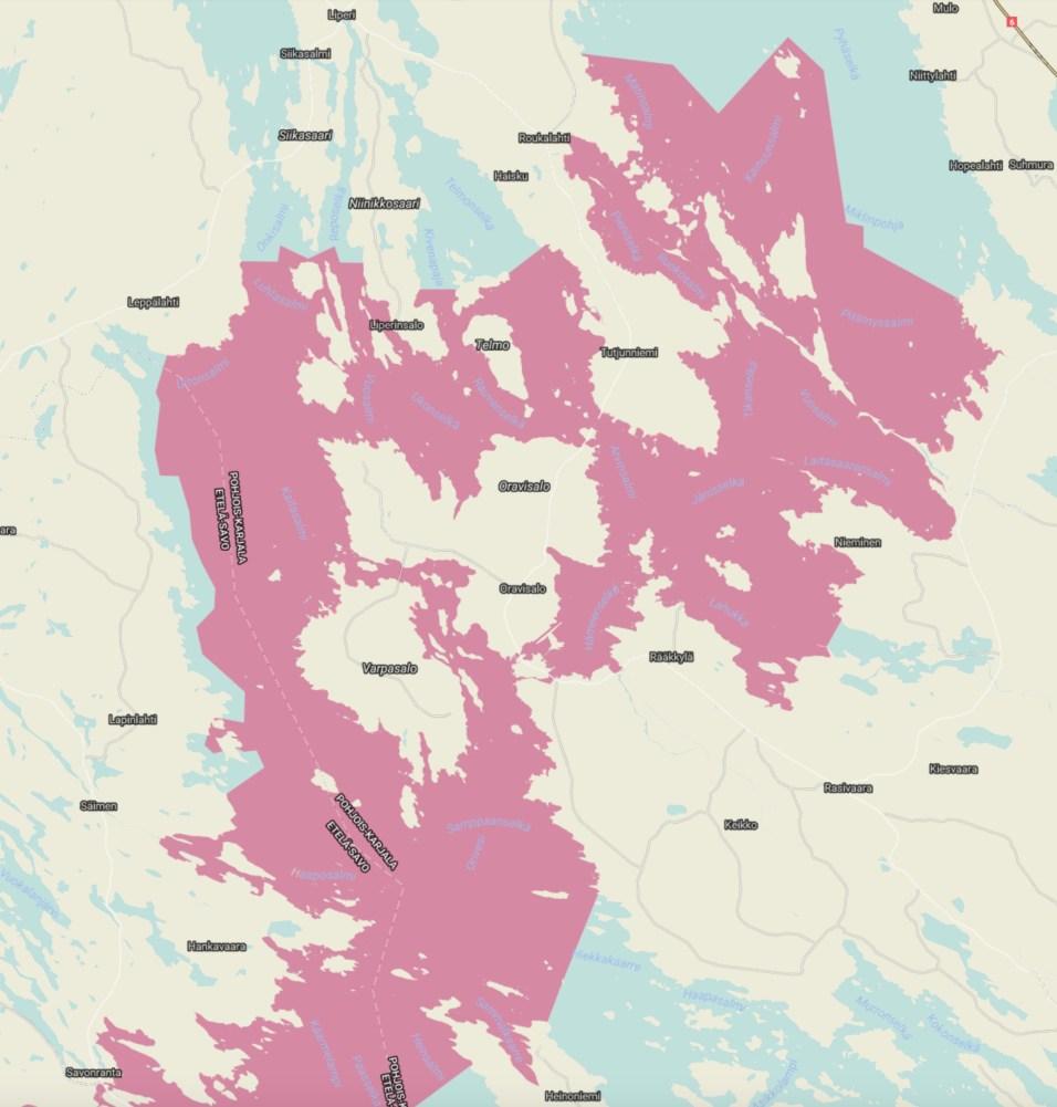Kartan esittämillä vesistöalueilla on ympäri vuoden kielletty kalastaa norpalle vaarallisilla pyydyksillä kuten liiaksi avautuvilla katiskoilla tai tietynlaisilla verkoilla.