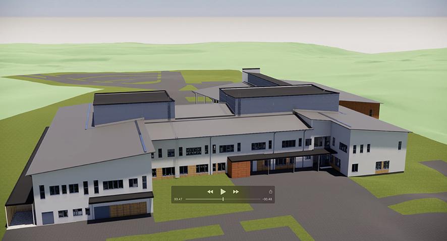 Ylämyllyn yläkoulu rakentuu Erä- ja Laavupolun väliin tämän näköisenä.