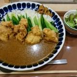 原了郭の黒七味を京都駅で味見。鳥天カレーの変化がどう変化するか?