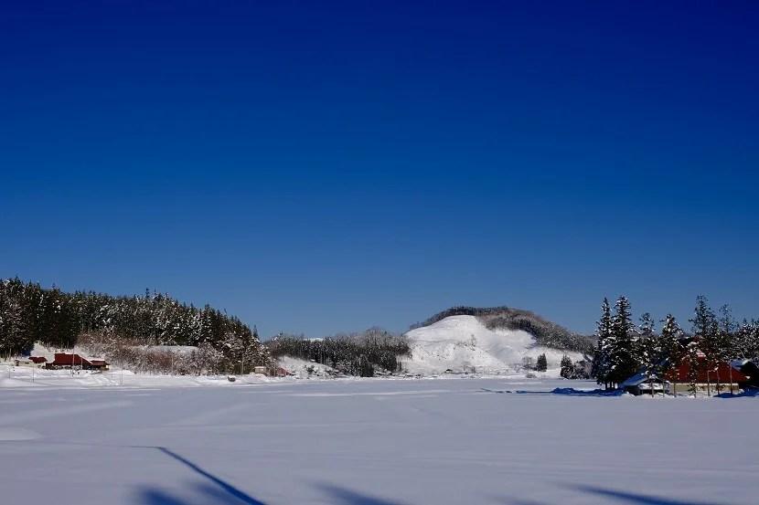x-t4で撮影の雪景色の風景写真