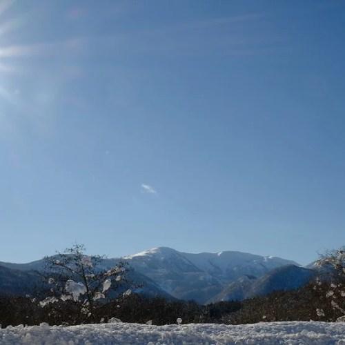 x-t4で撮影した須川岳の冬の写真