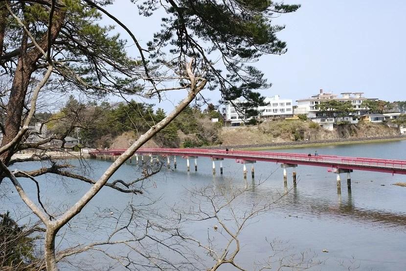松島福浦橋の春の風景写真