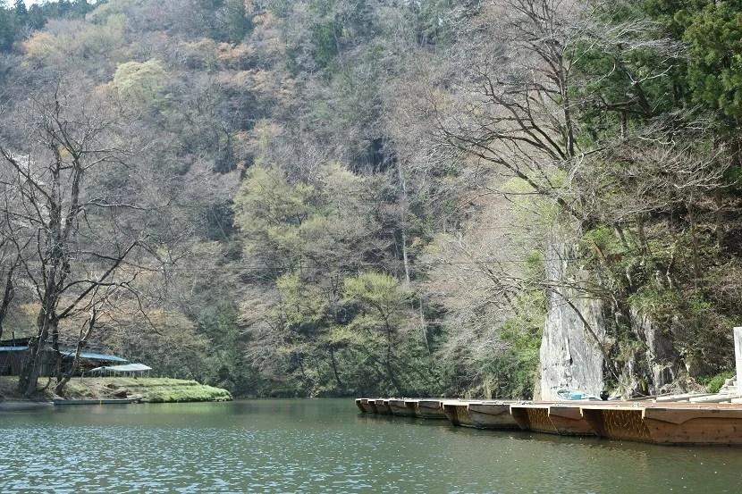 猊鼻渓の春の写真