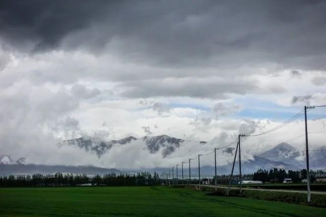 あいにくの天気のイメージ写真