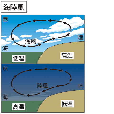 海陸風(かいりくふう)とは - コトバンク