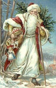 クリスマスカードに描かれた様々なサンタクロース1