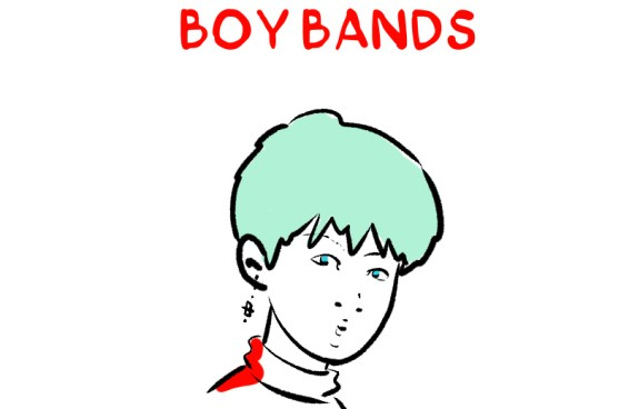 A brief illustrated history of boy bands.