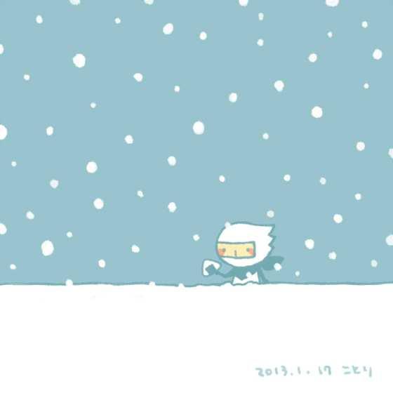 ゆきやこんこ|忍者は、雪景色の中に忍ぶときは白装束だったそうです