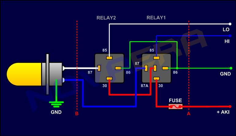 Memasang Relay untuk Headlamp  KoTsK