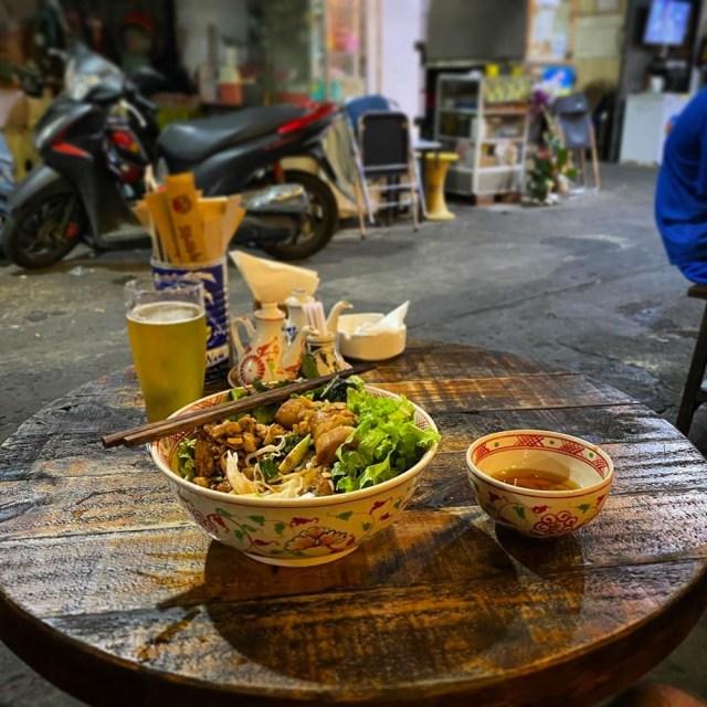 Bowl of noodles in Saigon, Vietnam