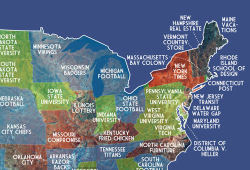 Autocomplete map of the United States