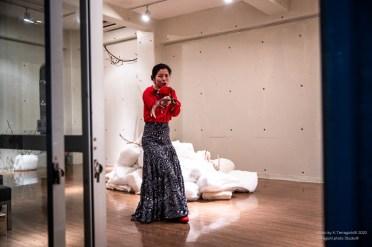 中本誠司現代美術館、花とコンパス